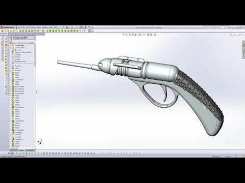 Как создать рукоятку пистолета в SolidWorks