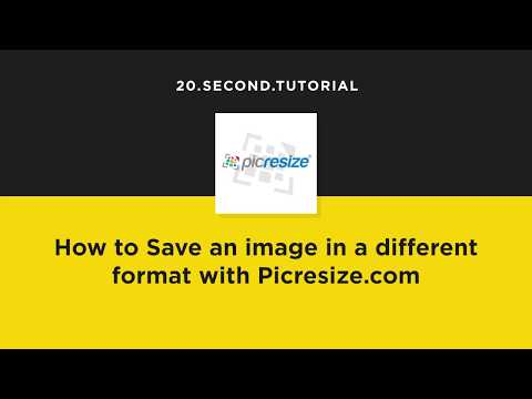Change Format Of An Image With Picresize.com | Free Marketing Tools | Picresize #1