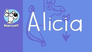 The name Alicia into a cartoon - Alicia Nametoon