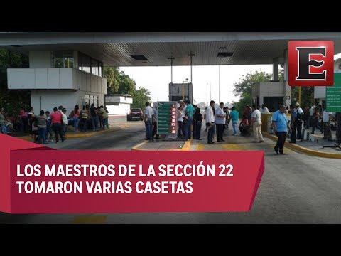 CNTE mantiene bloqueos en vías de Oaxaca en rechazo a evaluación