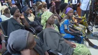 Chibok Girls Arrive Abuja