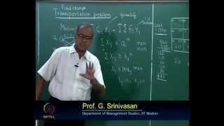 Mod-09 Lec-38 Transportation and Distribution Models(continued)