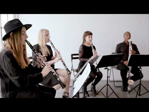 D.A.N.C.E. by Justice (Four Play clarinet Music Video Cover)