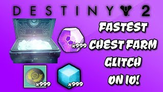 DESTINY 2 - *NEW* FASTEST CHEST FARM GLITCH ON IO! - LEGENDARY ENGRAMS, TOKENS, SHADERS, & MORE!