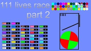 111 LIVES CHALLENGE MARBLE RACE PART 2 SEASON 1 | GewoonKoen
