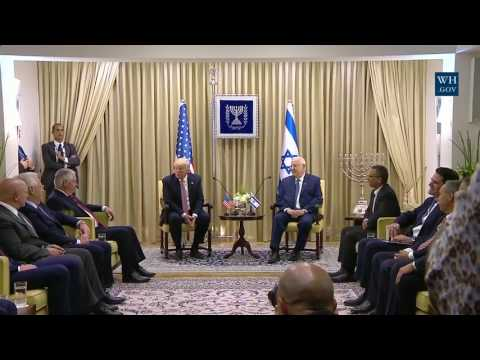 President Donald Trump Participates in a Bilateral Meeting with President Reuven Rivlin of Israel