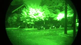 Testing the Chinese DBAL IR/Green laser at night with a PVS14