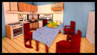 КУХНЯ и ГОСТИНАЯ КОМНАТА в майнкрафт - Серия 30 - Minecraft - Строительный креатив 2