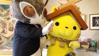 出雲市立平田本陣記念館でダヤンとしまねっこの共演がありました。