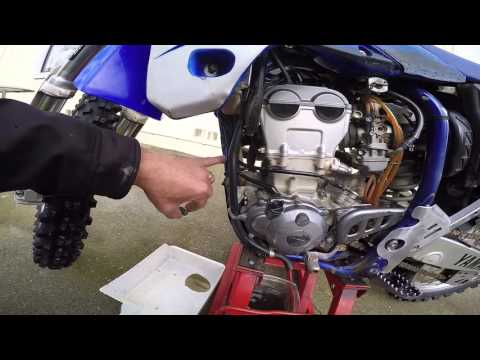 How to change the oil and air filter on a YZ250F