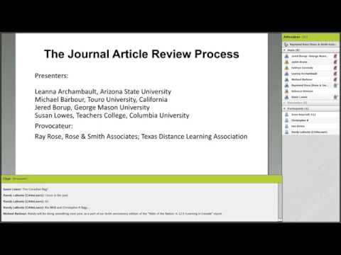 MVLRI Webinar: The Journal Article Review Process