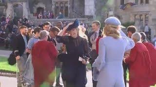 VOM WINDE VERWEHT: So kräftig wurde diese Windsor-Hochzeit durchgepustet