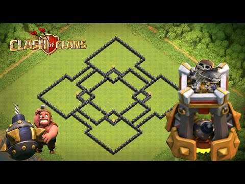 Clash Of Clans - BOMB TOWER!!  Epic TH9 WAR Base With Bomb Tower 2016!