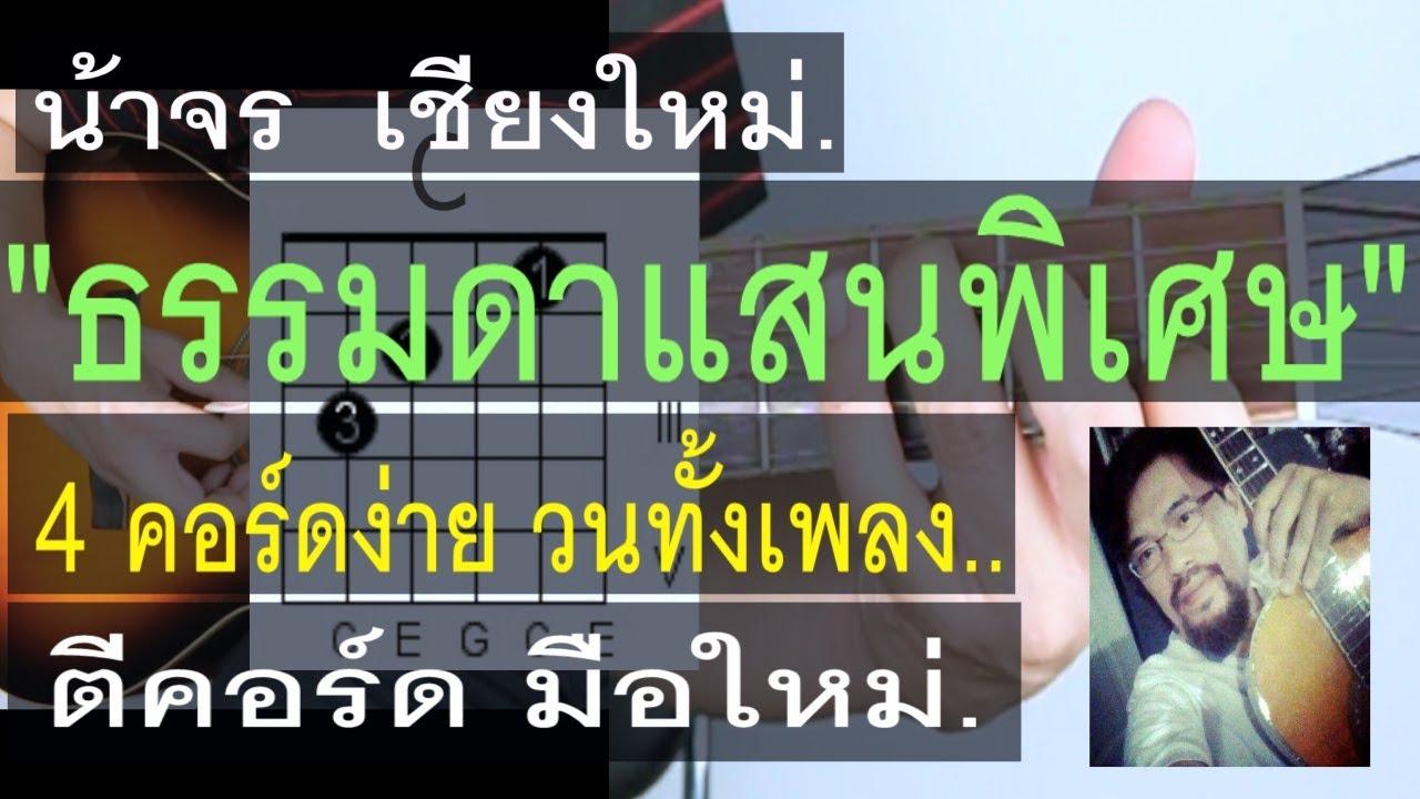 สอนกีต้าร์  ธรรมดาแสนพิเศษ   น้าจร เชียงใหม่ - 4 คอร์ดง่าย วนทั้งเพลง มือใหม่ ANATOMY RABBIT COVER