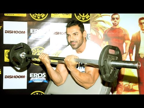 John Abraham Dishoom Promotions In A Gym Full Video