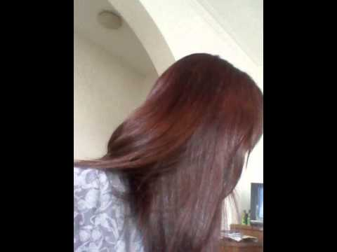 Result Of Dying Revlon Colorsilk Auburn Brown