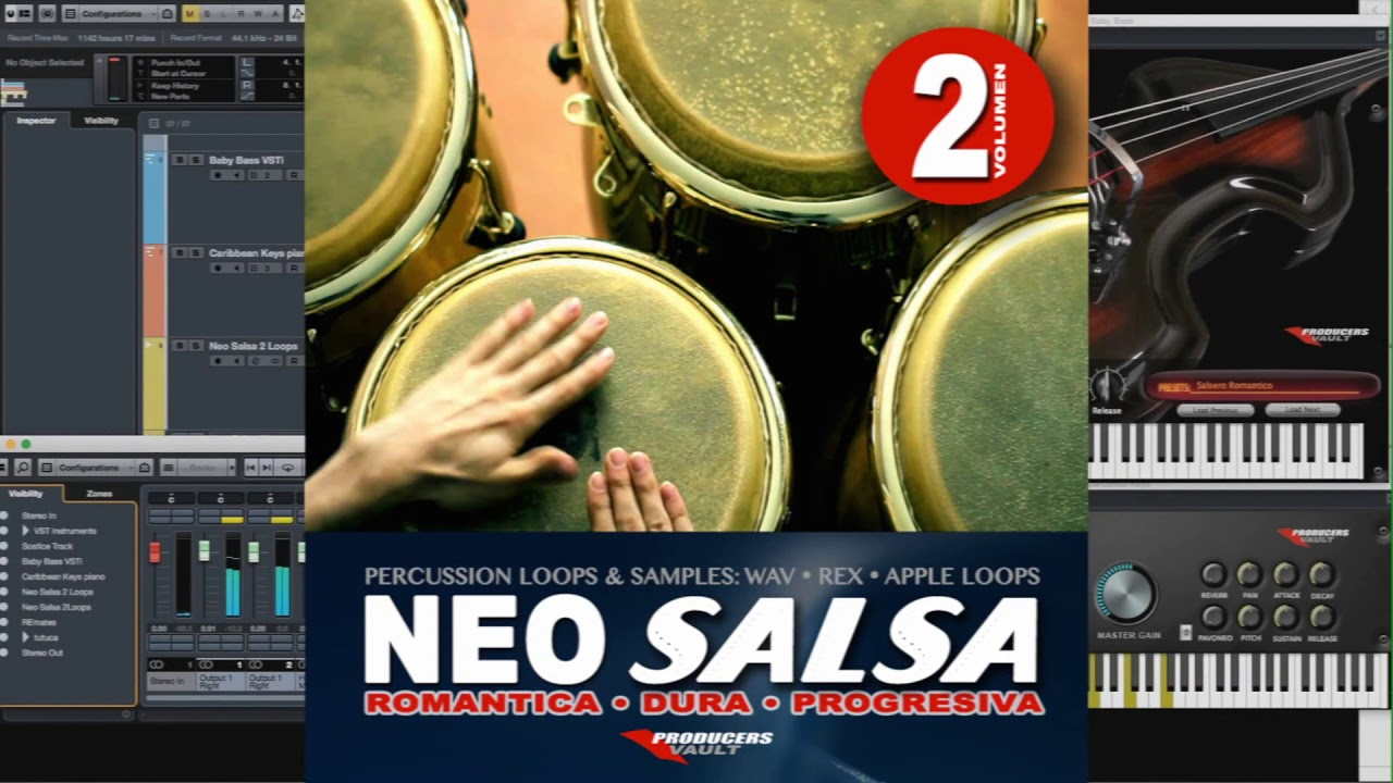 Neo Salsa Vol 2 (Full Demo) Loops and Samples Percussion Salsa Dura, Romantica Progresiva