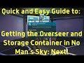 How to recruit the Overseer and get the Storage Container blueprints! No Man's Sky: Next!