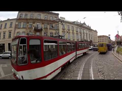 Tram #1 in Lviv city,Ukraine