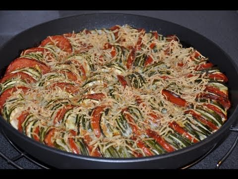 recette de flan proven al aux courgettes et tomates youtube. Black Bedroom Furniture Sets. Home Design Ideas
