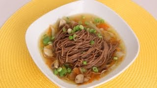 Quick Soba Noodle Soup Recipe - Laura Vitale - Laura in the Kitchen Episode 519