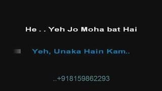 Yeh Jo Mohabbat Hai - Karaoke - Kati Patang (1970) - Kishore Kumar