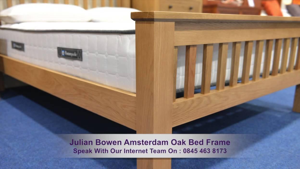 julian bowen amstedam oak bed frame