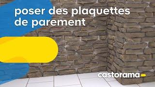 Poser des plaquettes de parement castorama for Poser plaquette de parement