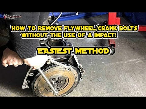 How to remove flywheel bolts without an impact (EASIEST METHOD)