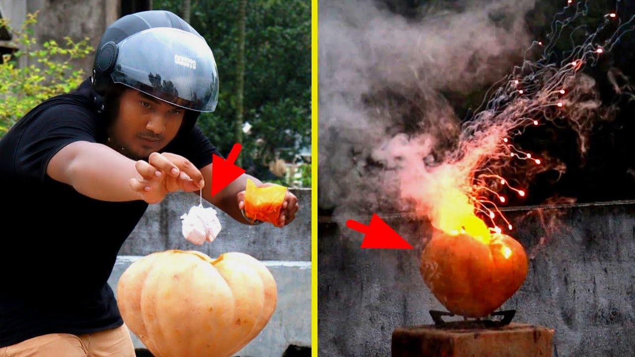কুমড়ো বোম 😜 | কুমড়ো VS সোডিয়াম মেটাল | Pumpkin VS Sodium Metal Experiment 🔥 | EXPERiMENTAL