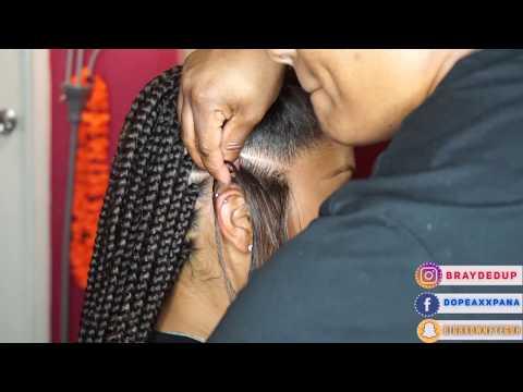 Box Braid Gripping + Feed In Braids in Regular Speed
