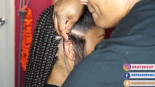 Box Braid Gripping + Feed In Braids in Regular Speed