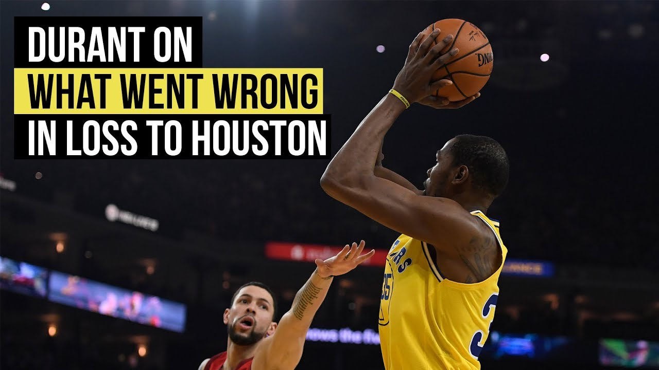 Kevin Durant on what went wrong in loss to Houston