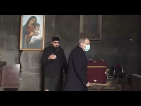 Пашиняна выгнали из церкви в Сюнике !   Карта Карабаха по итогам мирового соглашения.  .