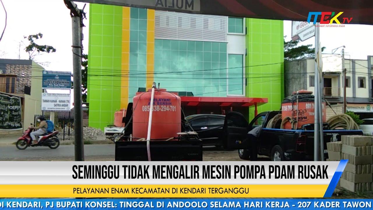 Seminggu Tidak Mengalir Mesin Pompa PDAM Rusak, Pelayanan Enam Kecamatan di Kendari Terganggu