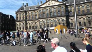 Walking Around Dom Square in Amsterdam