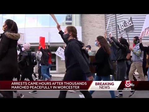 Several under arrest after peaceful protest in Worcester