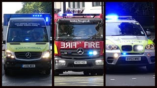 Fire Engines, Police Cars and Ambulances responding - Compilation 30