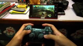 xiaomi Mi3 play PSP game Monster Hunter with Joystick