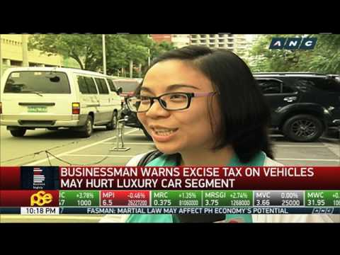 Excise tax on vehicles may affect luxury car sales