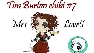 How to draw Burton CHIBI #7 : Mrs Lovett