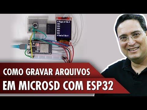 Como gravar arquivos em microSD com ESP32