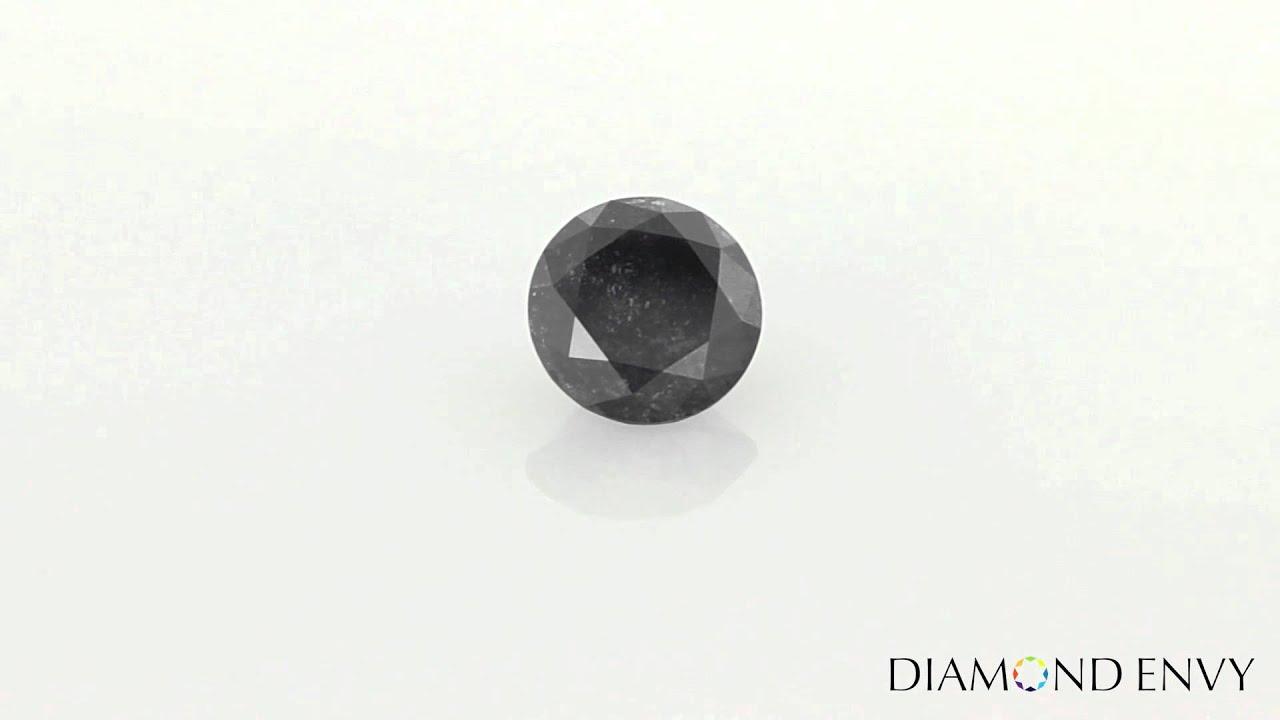 1 67 Carat Round Brilliant Natural Fancy Black Diamond