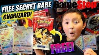 WE GOT A FREE HYPER RARE CHARIZARD AT GAMESTOP! TRADING ULTRA RARE POKEMON CARDS! TRADE & PLAY EVENT