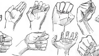 Sketching Hands Quickly - How to Draw | Part 1/2