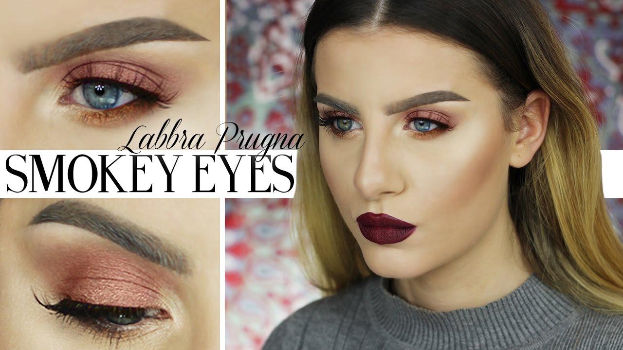 Top Make up Tutorial FACILE | Trucco Occhi Smokey eyes Borgogna e Rame  LJ87