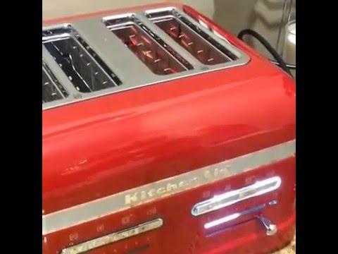 Kitchenaid Countertop Oven Youtube : Toaster KitchenAid Rosso imperiale - YouTube