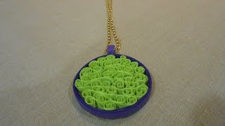 How To Make Beehive Quilling Pendant - Making Tutorial