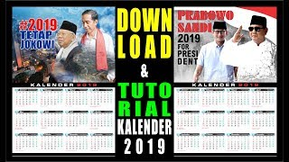 Gambar cover Download kalender 2019 tema #prabowosandi & #2019tetapjokowi
