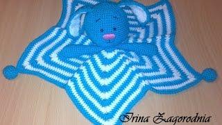 Зайка комфортёр-для новорожденного.Игрушка комфортер+вязаная игрушка крючком.Игрушка сплюшка крючком